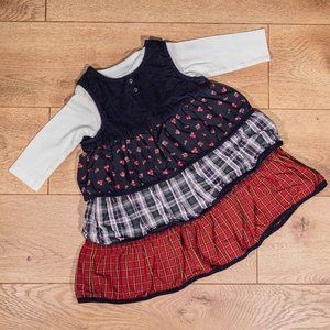 Baby GAP 6-12M Floral Corduroy Dress Set